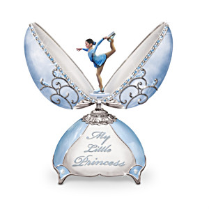 Music Box With Ice Skater Celebrates Little Girls' Dreams