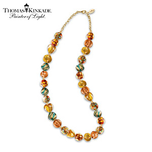 "Thomas Kinkade ""Colors Of Venice"" Art-Glass Beaded Necklace"