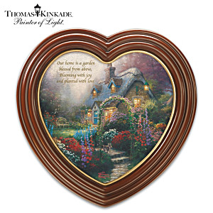 "Thomas Kinkade ""The Blossoms Of Home"" Framed Canvas Print"