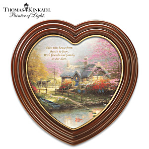 "Thomas Kinkade ""Bless This House"" Framed Canvas Print"