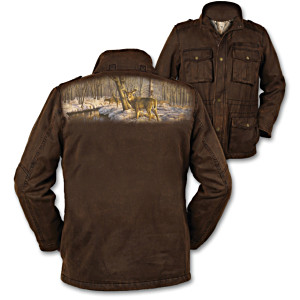 Greg Alexander Deer Art Cotton Twill Jacket