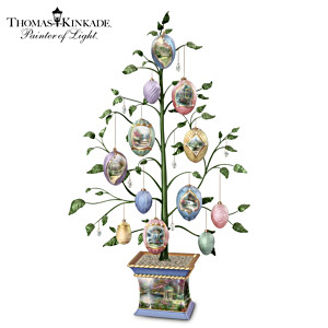 Thomas Kinkade Easter Blessings Heirloom Porcelain Egg Tree