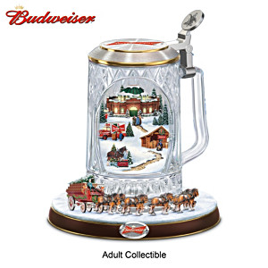 "Budweiser ""Holiday Cheers"" Stein With Lights, Motion, Music"