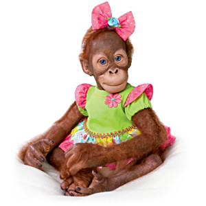 "Simon Laurens Realistic ""Mollie"" Orangutan Toddler Doll"
