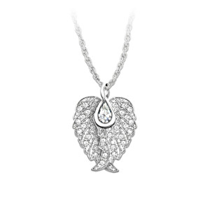 white pendant gold pendants angel diamond xl lg wing unisex super ladies