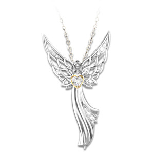 guardian products angel gold whitemarble mind edits pendant the