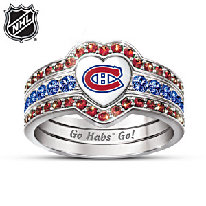 Montreal Canadiens® Trio Heart Ring For Women