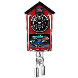 Bel Air Wall Clock Lights Up With Revving Sound
