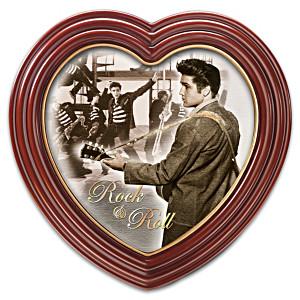 Elvis Presley Portrait Canvas Print In Heart-Shaped Frame