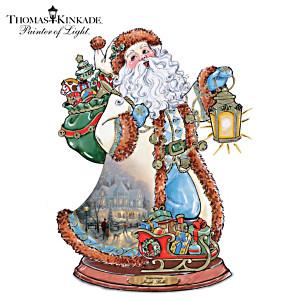 "Thomas Kinkade ""Jingle Bells"" Carolling Santa Sculpture"