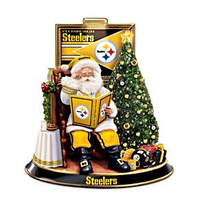 Pittsburgh Steelers Night Before Christmas Talking Santa