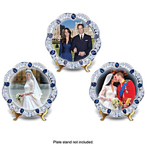 William And Kate 5th Anniversary Collector Plate Set