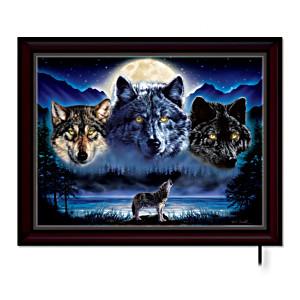 Vivi Crandall's Illuminated Wolf Art Canvas Print