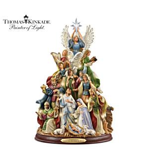 Thomas Kinkade Illuminated Nativity Tree With Narration