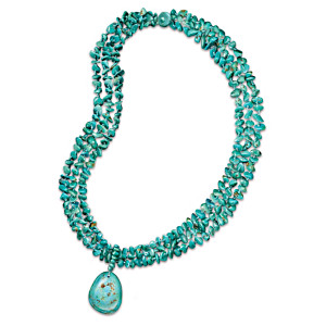 """True Blue"" 3-Strand Turquoise Necklace"