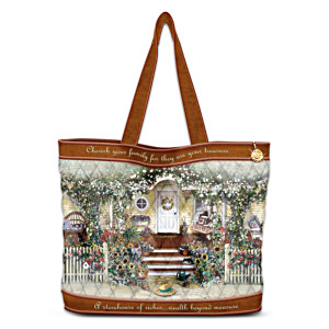 Welcome Home Tote Bag With FREE Matching Cosmetic Case