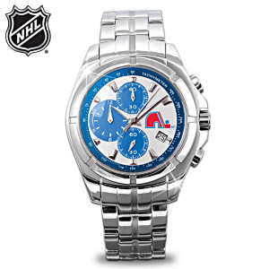 NHL®-Licensed Quebec Nordiques™ Chronograph Watch