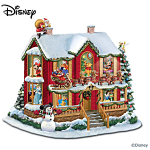 Disneys Night Before Christmas Illuminating Story House