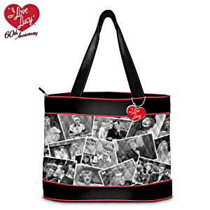 I LOVE LUCY Quilted Tote Bag With Free Cosmetic Case