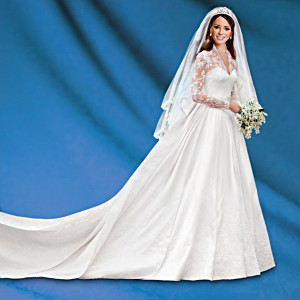 Kate Middleton Commemorative Porcelain Bride Doll