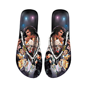 """Elvis Presley Showstopper"" Women's Flip Flops"