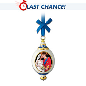 William And Kate Royal Kiss Fine Porcelain Ornament