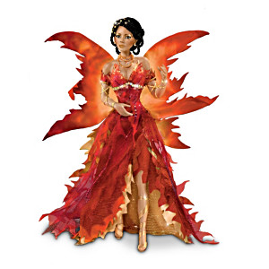 """Fire"" Fantasy Fairy Porcelain Doll"