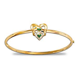 """Blessings Of Ireland"" Irish Pride Claddagh Women's Bracelet"