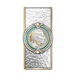 Money Clip With Indian Head Nickel Centrepiece