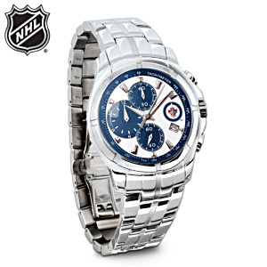 Winnipeg Jets™ Stainless Steel Chronograph Watch