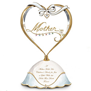 """Mother's Heart"" Personalized Birthstone Music Box For Mom"