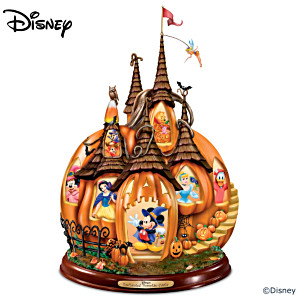"""Disney's Enchanted Pumpkin Castle"" Illuminated Sculpture"