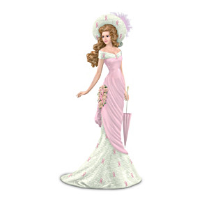 Breast Cancer Awareness Victorian-Style Figurine