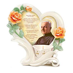 St. Brother André Porcelain Votive Candleholder