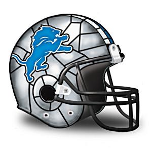 Detroit Lions Football Helmet Accent Lamp