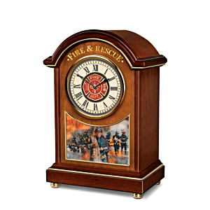 Firefighters Carriage Clock With Glen Green Artwork
