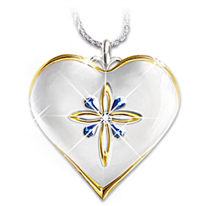 """""""My Blessed Daughter"""" Diamond And Sapphire Pendant"""