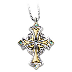 Irish Blessings Emerald And Diamond Pendant Necklace
