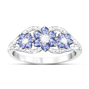 """African Violets"" Tanzanite And Diamond Ring"