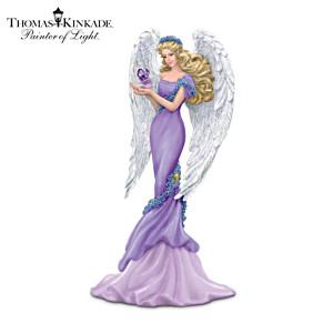 Thomas Kinkade Alzheimer's Charity Angel Figurine: Caring