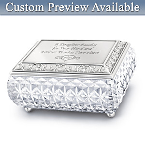 Personalized Heirloom Crystal™ Music Box For Daughter