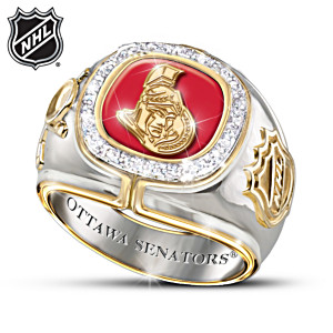 NHL®-Licensed Ottawa Senators® 10-Diamond Ring