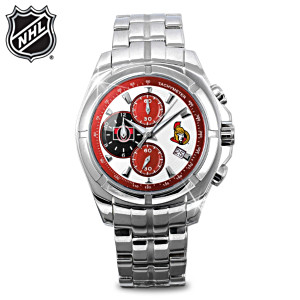Ottawa Senators™ Stainless Steel Chronograph Watch