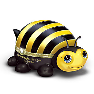 """""""Granddaughter, You're Cute As Can Bee!"""" Porcelain Music Box"""