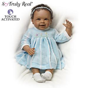 """""""Akeelah Waves Bye Bye"""" Interactive Baby Girl Doll"""