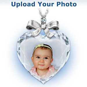"Personalized ""Precious Jewel"" Photo Pendant With Diamond"