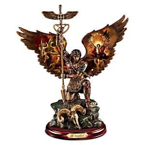 """St. Raphael: Merciful Healer"" Cold-Cast Bronze Sculpture"
