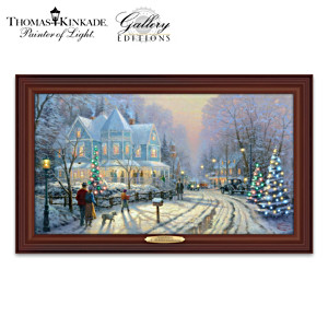 "Thomas Kinkade ""A Holiday Gathering"" Canvas Print"
