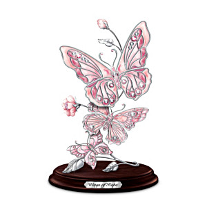 Porcelain Butterfly Sculpture Benefits Breast Cancer Causes