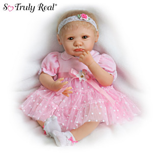Lifelike Teary-Eyed Poseable Baby Girl Doll By Marissa May